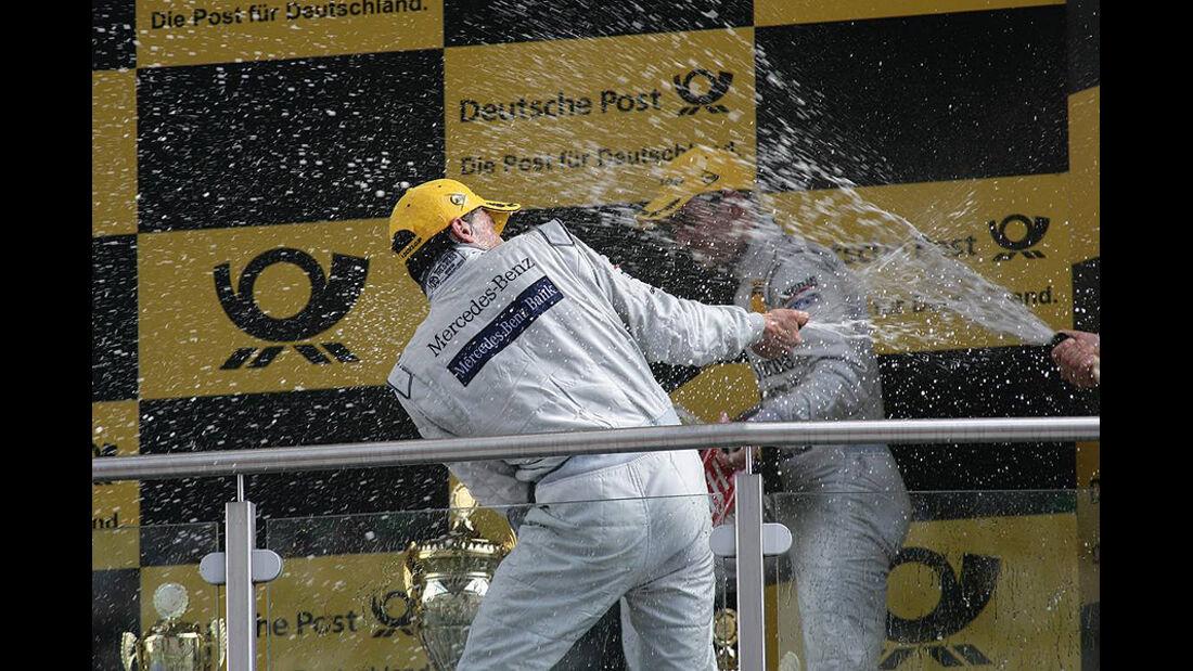 DTM Lausitzring 2010 Siegerehrung Bruno Spengler
