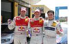 DTM Valencia 2010 Mattias Ekström, Martin Tomczyk und Bruno Spengler - die drei Erstplatzierten beim DTM Rennen in Valencia