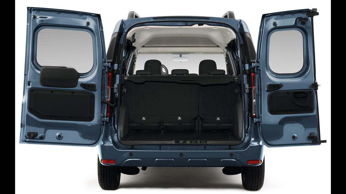 Dacia Dokker, Heck, Flügeltüren