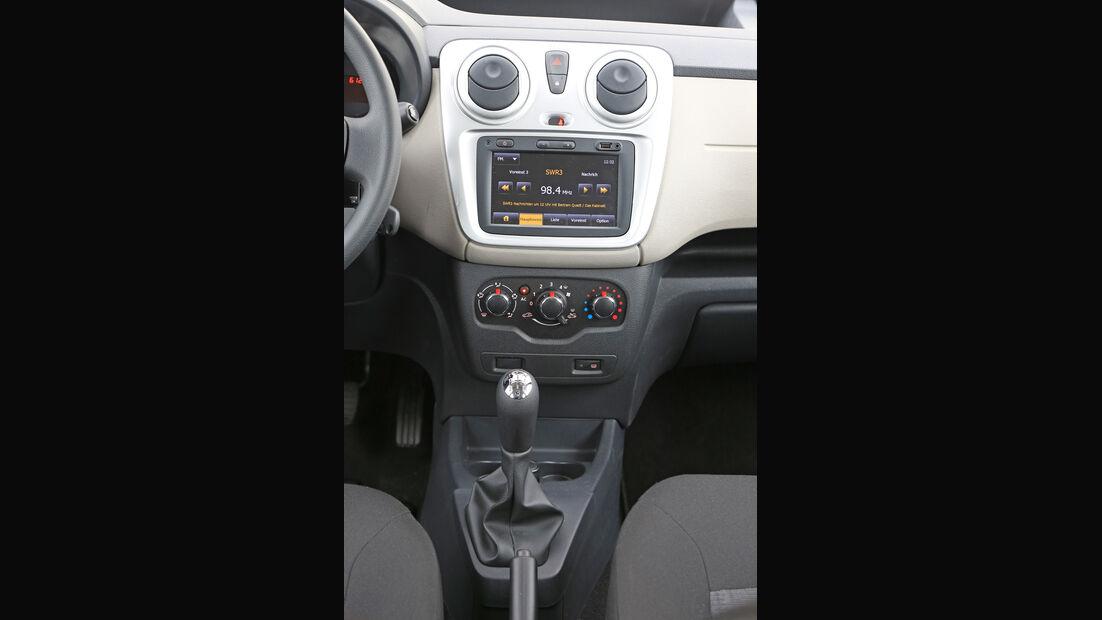 Dacia Dokker dCi 90, Mittelkonsole, Schalthebel