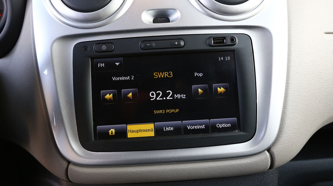 Dacia Dokker dCi 90, Radio, Display, Infotainment