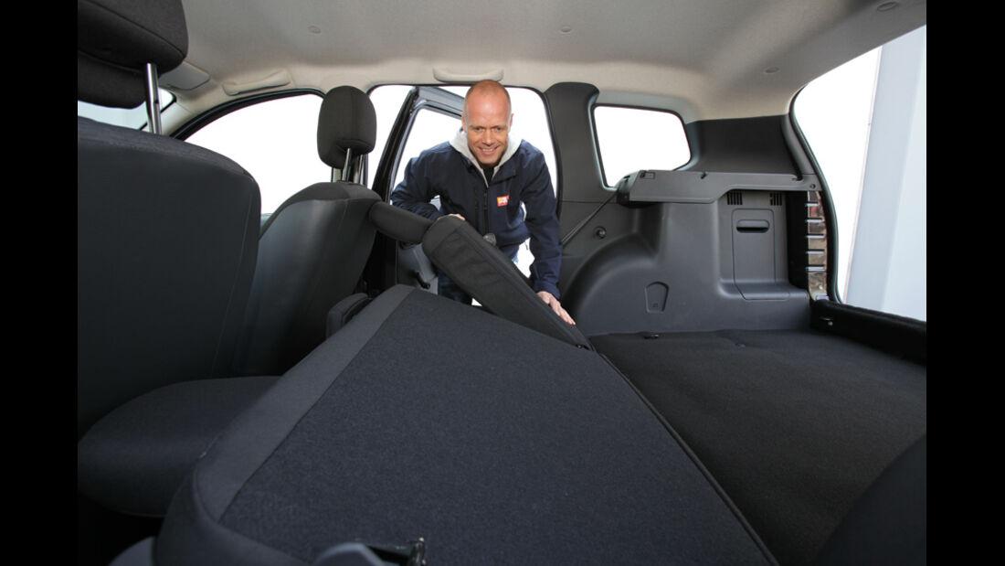 Dacia Duster DCi 90 4x2, Ladefläche, umklappbare Sitze, Peter Wolkenstein