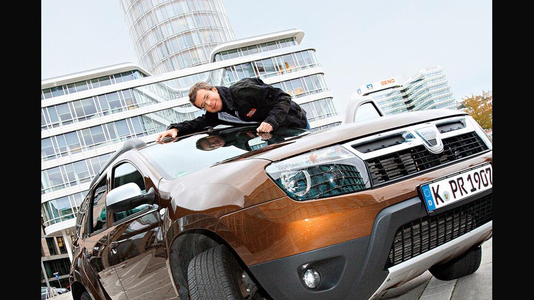 Dacia Duster Dauertest, Front