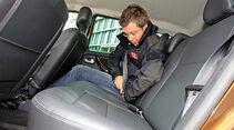 Dacia Duster Dauertest, Innenraum, Rücksitze