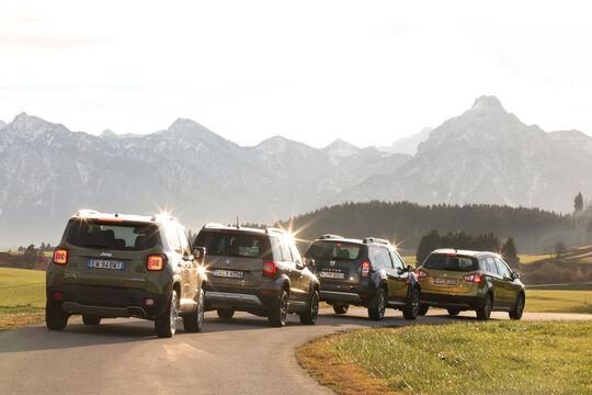 Dacia Duster, Jeep Renegade, Skoda Yeti, Suzuki SX4 S-Cross