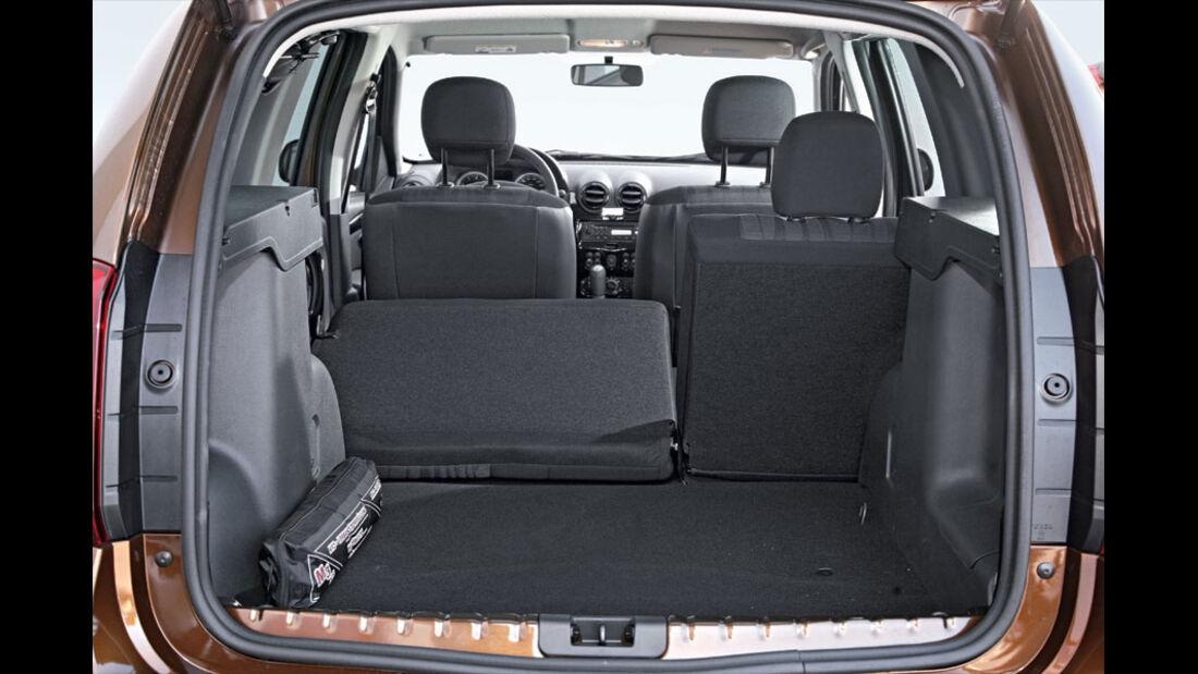Dacia Duster, Kofferraum