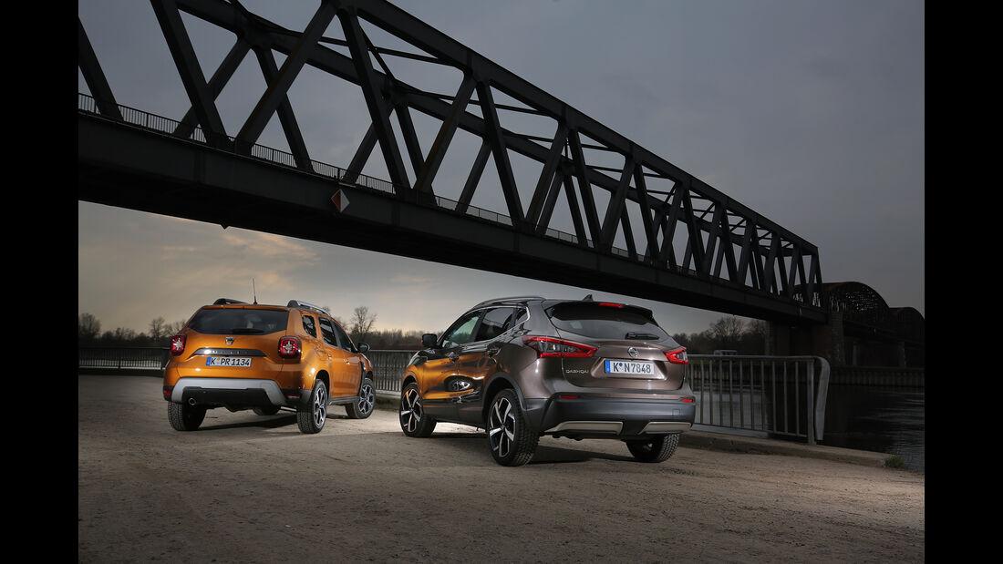 Dacia Duster, Nissan Qashqai, Exterieur