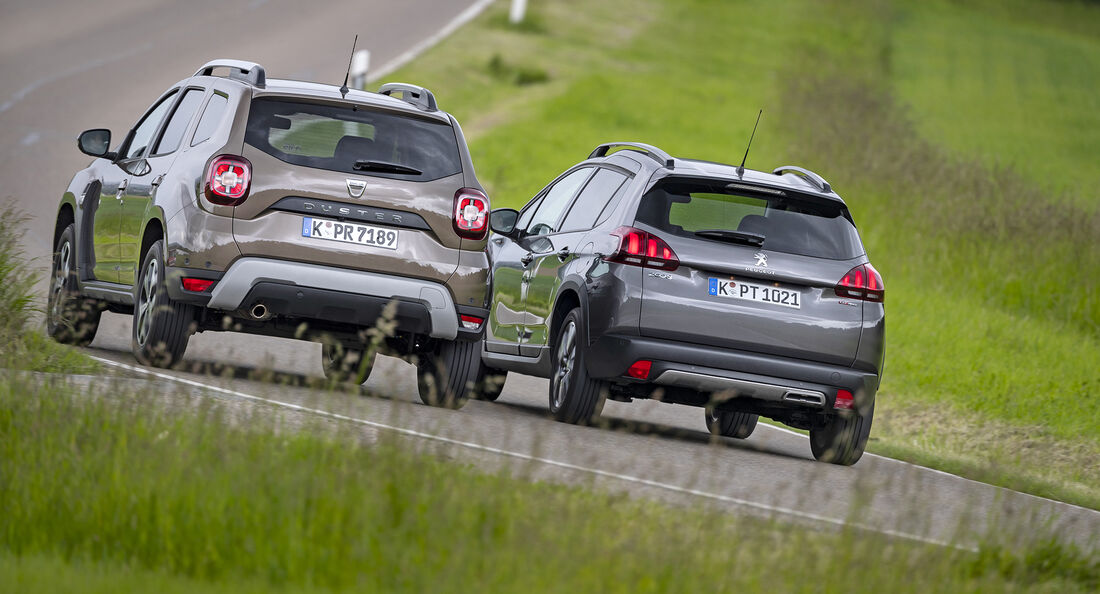 Dacia Duster TCE 130 Prestige, Peugeout 2008 Puretech 130 Allure, Exterieur