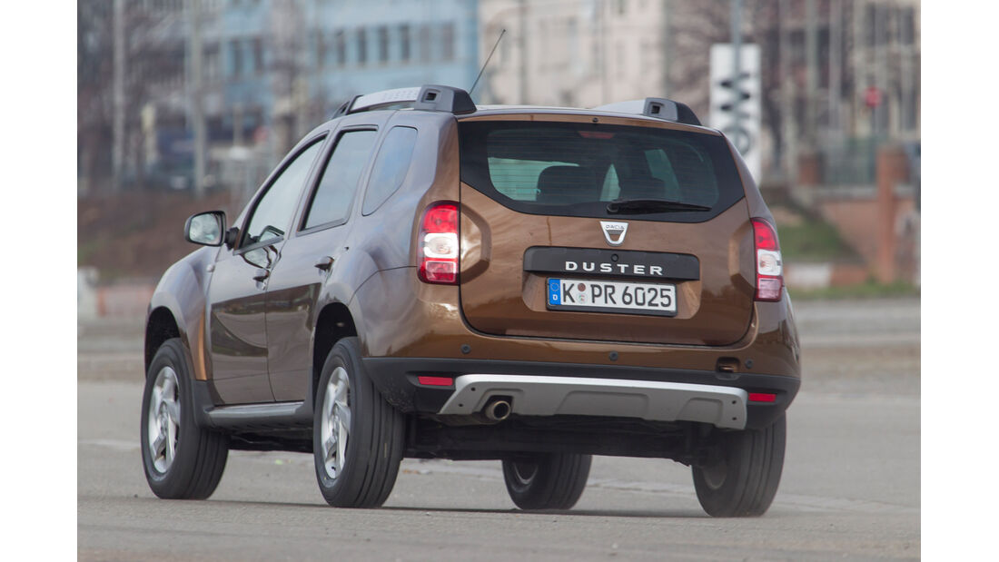 Dacia Duster TCe 125 4 x 2 Prestige, Heckansicht