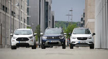 Dacia Duster Tce 125 4x4, Ford Ecosport 1.0 Ecoboost, Opel Mokka X 1.4 Turbo, Exterieur