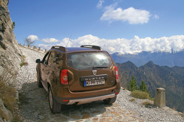 Dacia Duster dCi 110 4WD, Heckansicht