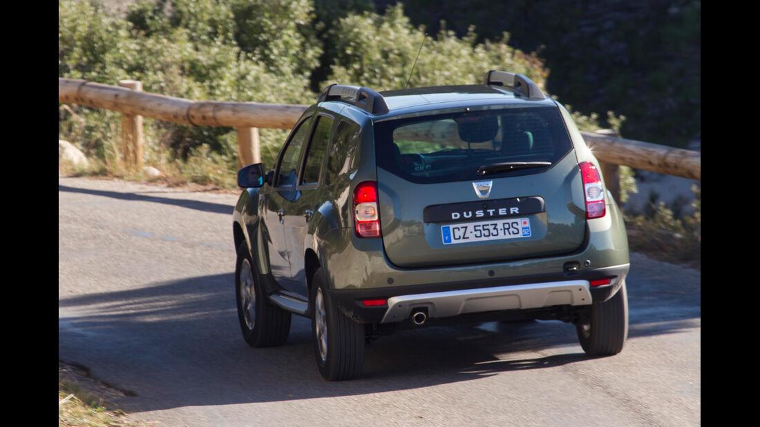 Dacia Duster dCi 110 4x4, Heckansicht