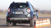 Dacia Duster dCi 110 4x4, Heckansicht, Bremstest