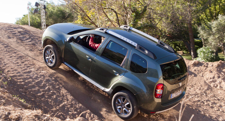 Dacia Duster dCi 110 4x4, Steilhang