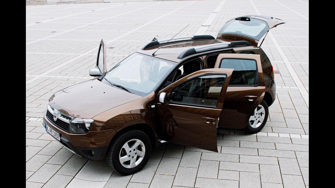 Dacia Duster dci 110 4X4, Türen offen