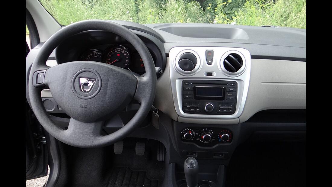 Dacia Lodgy Innenraum-Check, Cockpit
