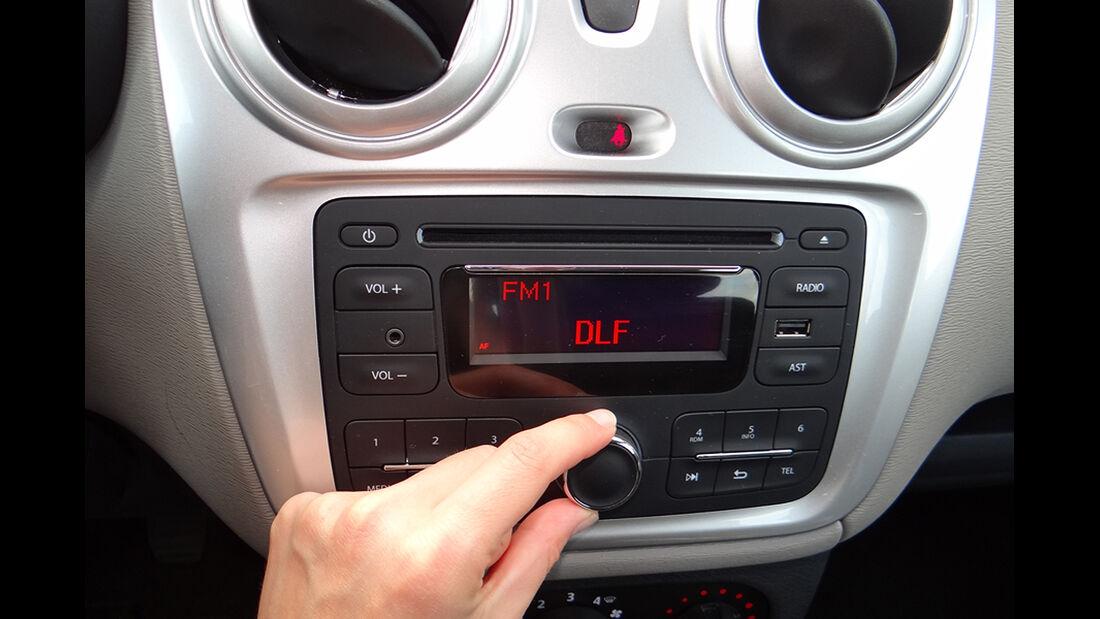 Dacia Lodgy Innenraum-Check, Cockpit, Bedienung