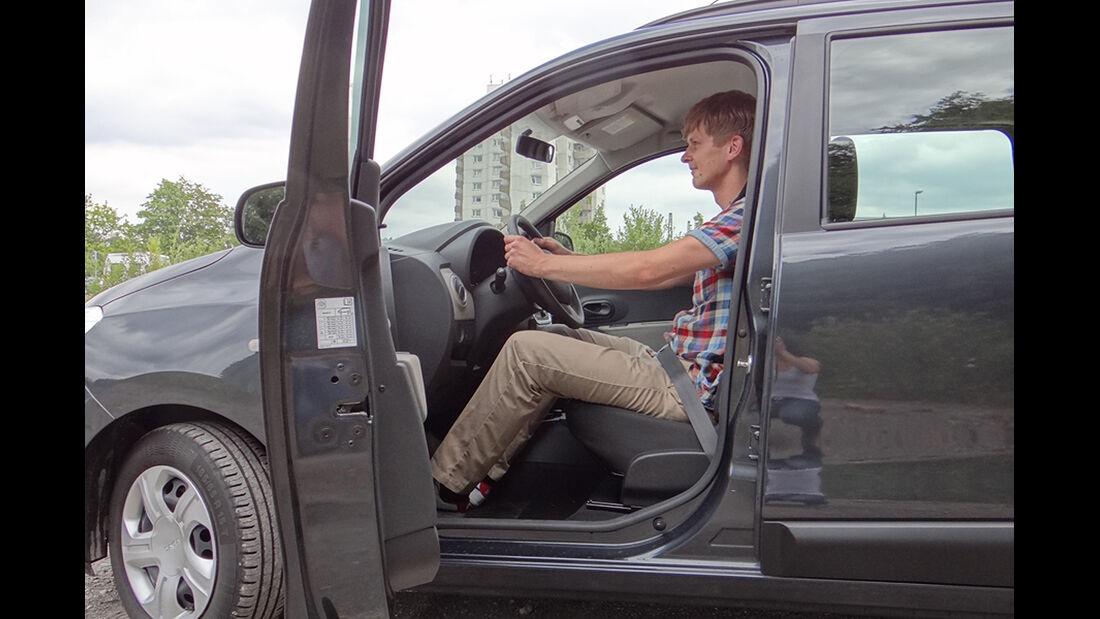 Dacia Lodgy Innenraum-Check, Sitzposition