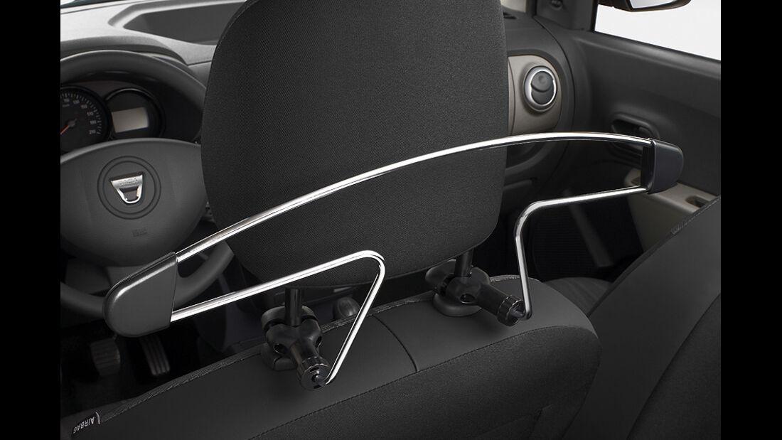 Dacia Lodgy,  Innenraum, Kleiderbügel