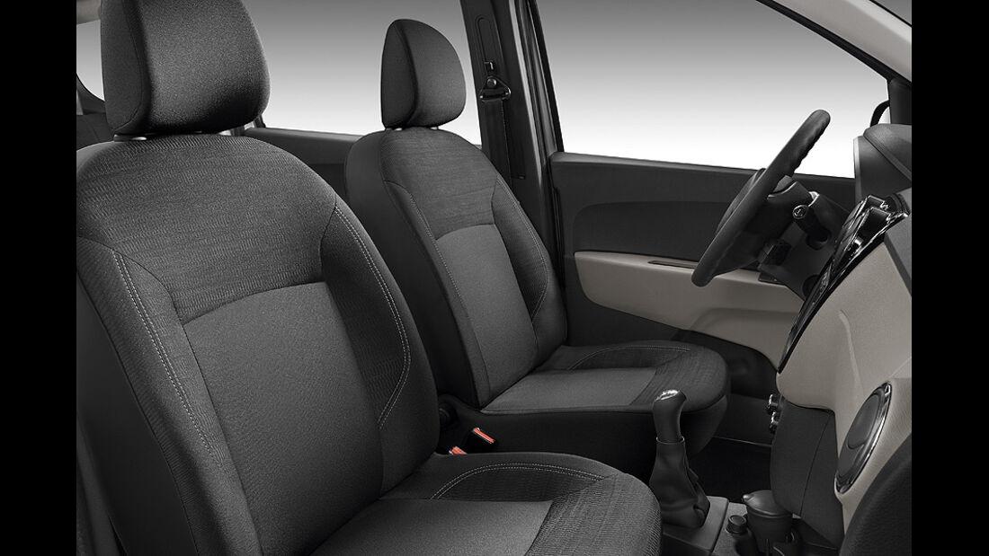 Dacia Lodgy,  Innenraum, Sitze