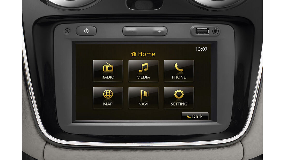 Dacia Lodgy,  Innenraum, Touchscreen
