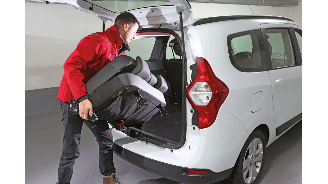 Dacia Lodgy, Rücksitz, Dritte Bank