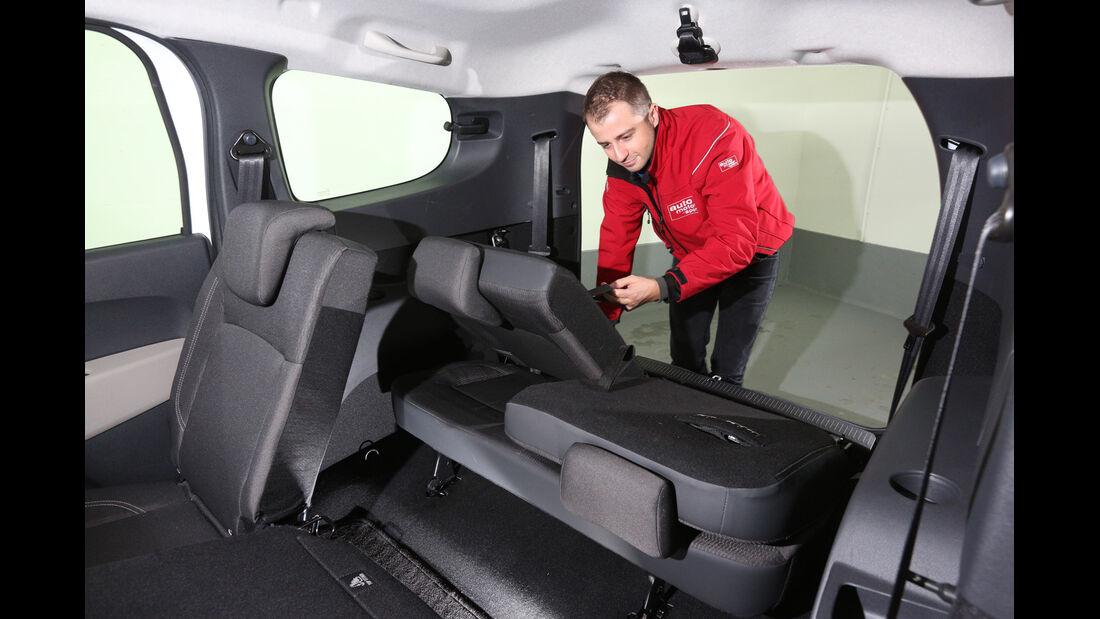Dacia Lodgy, Sitze, Umklappen