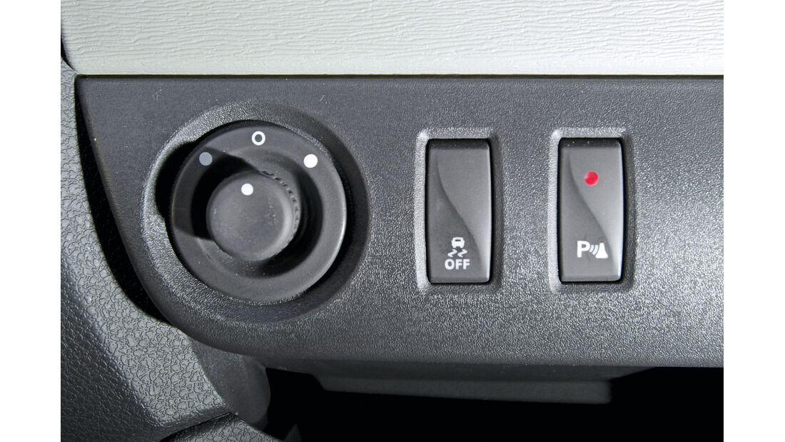 Dacia Lodgy dCi 110, Bedienelemente