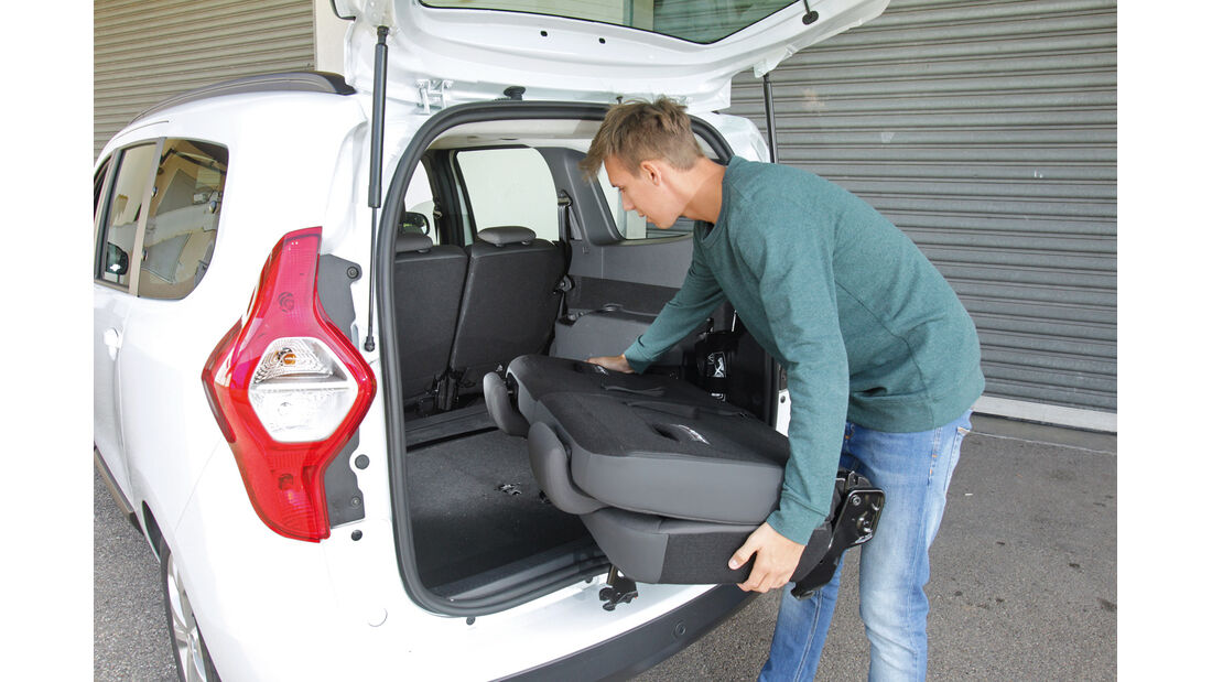Dacia Lodgy dCi 110, Kofferraum, Ladefläche