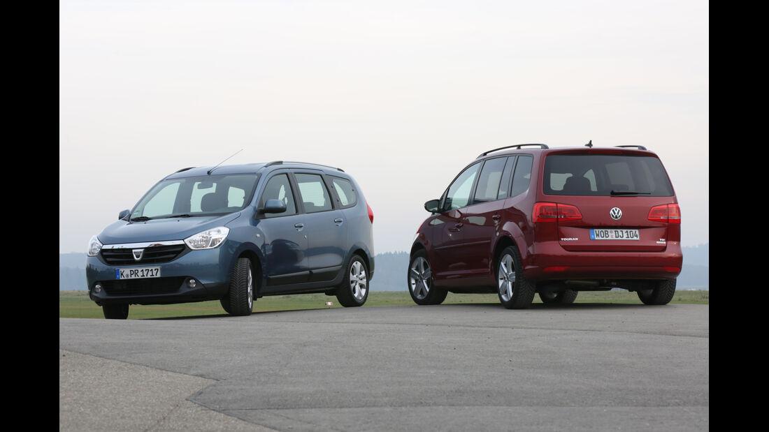 Dacia Lodgy dCi 110, VW Touran 1.6 TDI BMT