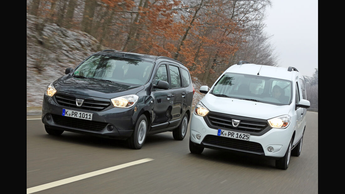 Dacia Lodgy dCi 90, Dacia Dokker dCi 90, Frontansicht