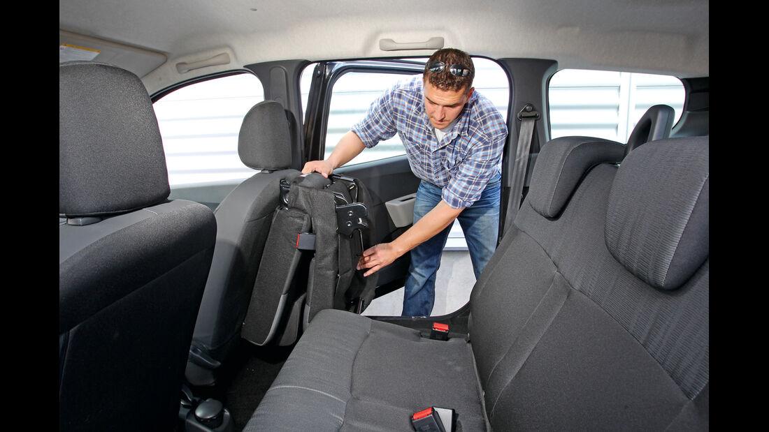 Dacia Lodgy dCi 90, Rücksitz, umklappen