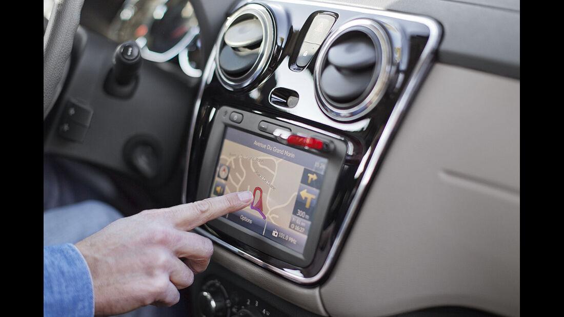 Dacia Lodgy,  navigation, Touchscreen
