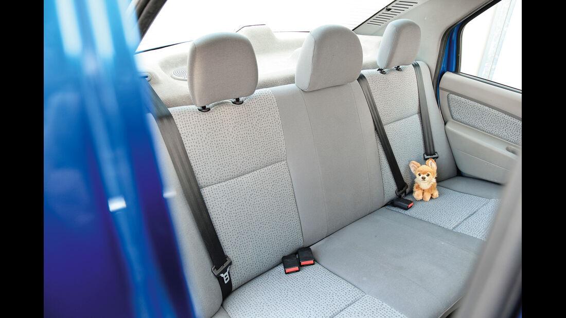 Dacia Logan 1.4 MPI, Rücksitz, Rückbank