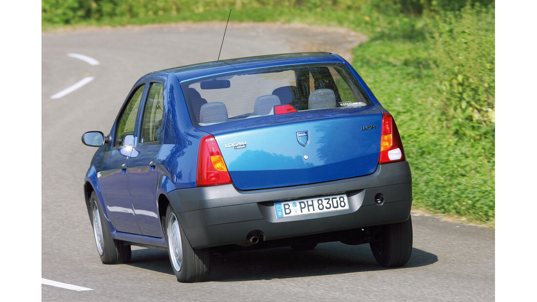 Dacia Logan, Heckansicht