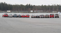 Dacia Logan MCV, Ford Grand C-Max, Honda Jazz, Opel Meriva, VW Caddy, VW Golf, Land Rover Discovery, Mercedes E-Klasse T-Modell, Seat Alhambra, Skoda Superb, VW Bus Multivan, VW Touran