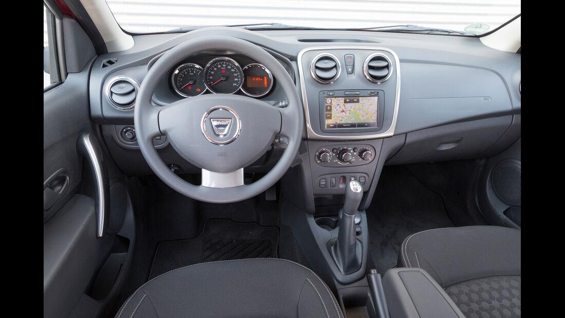 Dacia Logan MCV TCe 90, Cockpit, Lenkrad