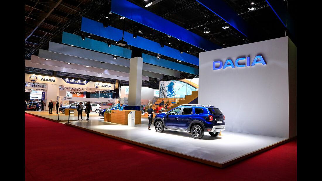 Dacia: Messestand Pariser Autosalon 2018