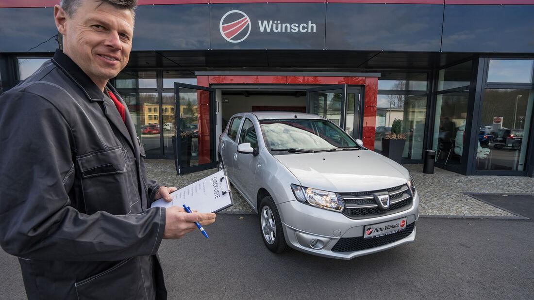 Dacia Sandero, Front mit Meister Wünsch