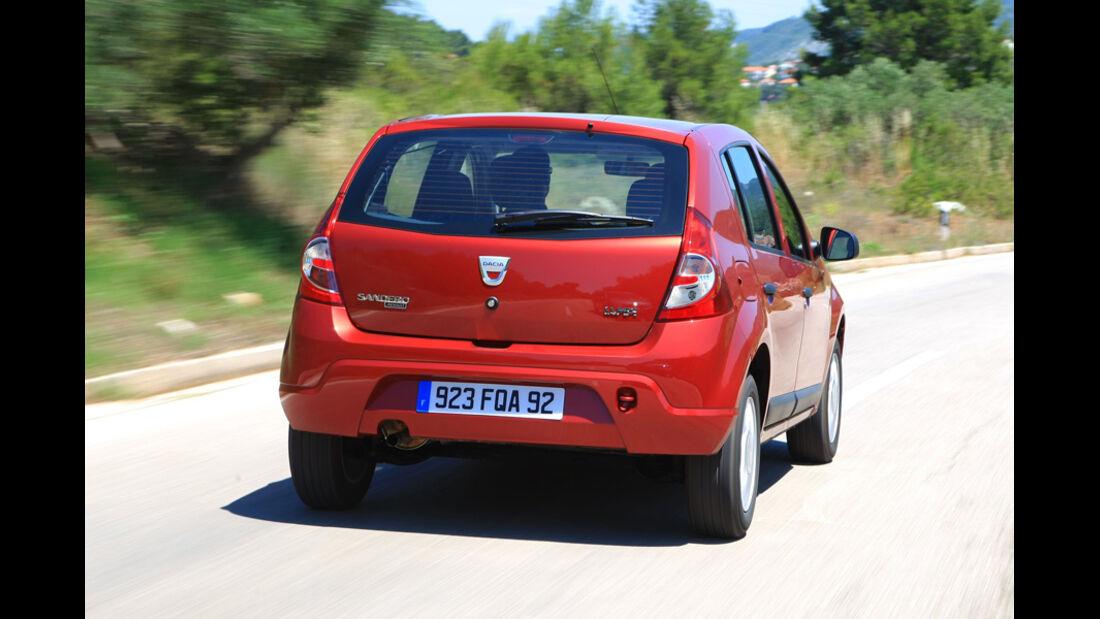 Dacia Sandero, Heck