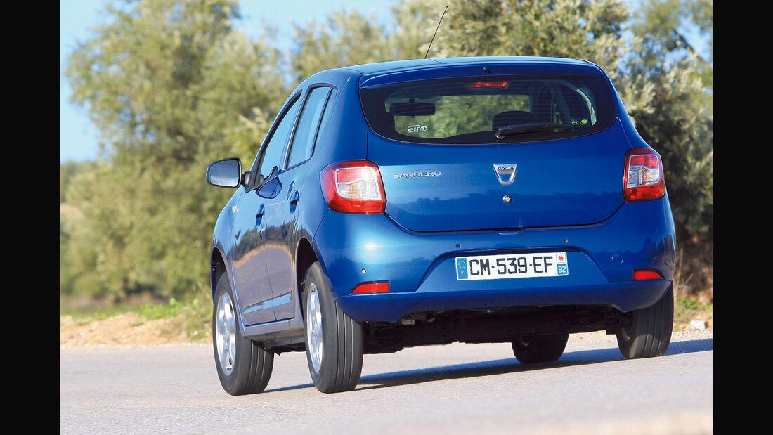 Dacia Sandero, Heckansicht