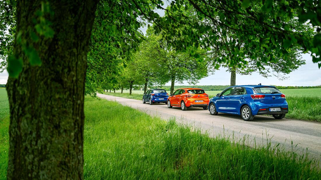 Dacia Sandero, Kia Rio, Renault Clio
