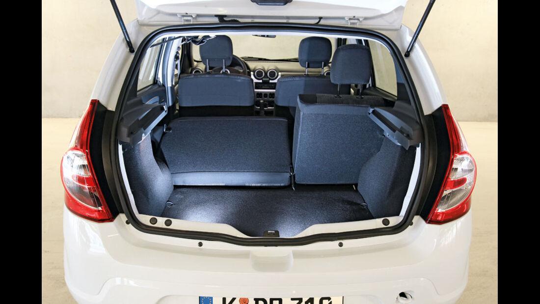 Dacia Sandero, Kofferraum