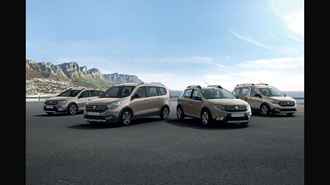 Dacia Sandero, Lodgy, Dokker und Logan MCV