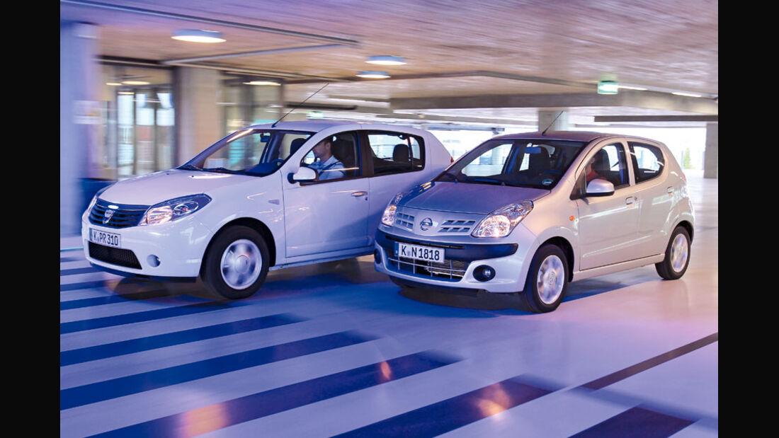 Dacia Sandero, Nissan Pixo