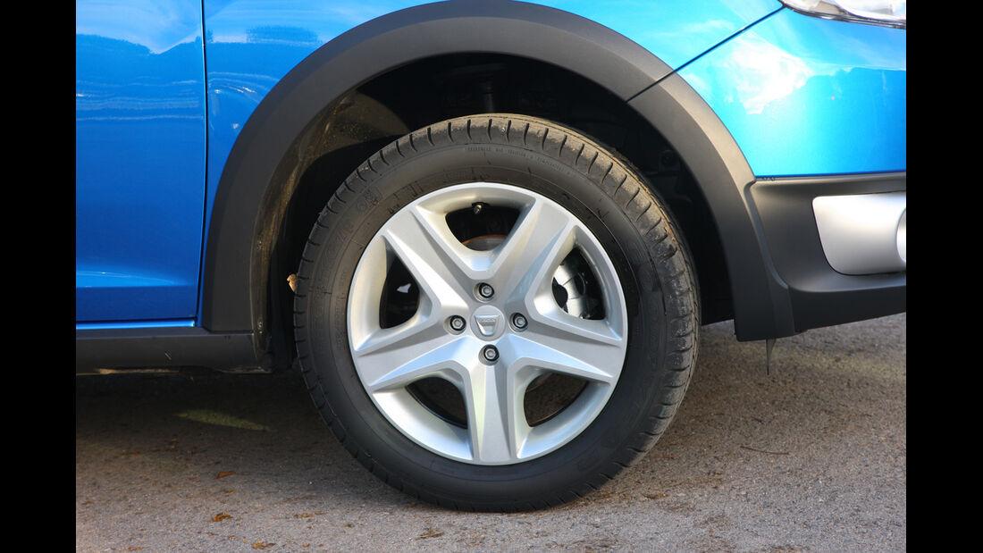 Dacia Sandero, Rad, Felge
