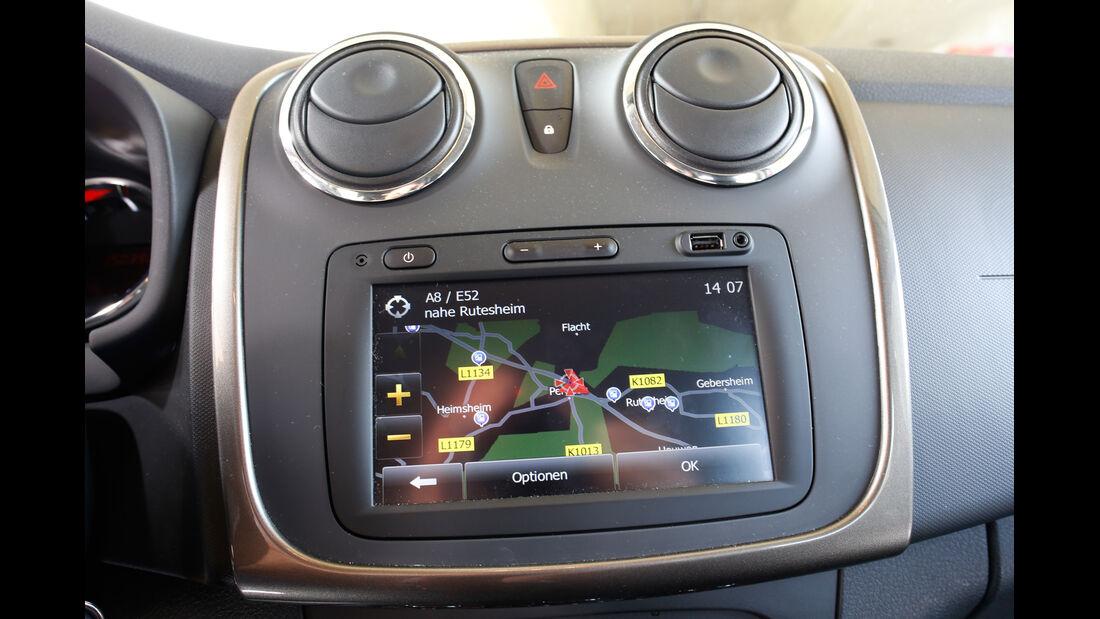 Dacia Sandero TCe 90, Infotainment, Bildschirm