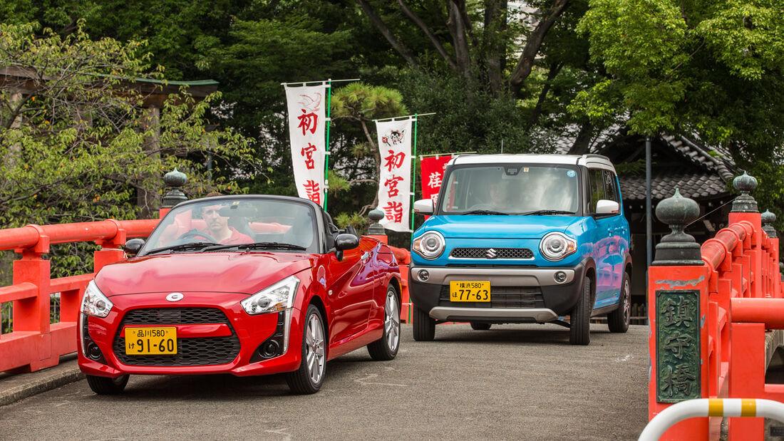 Daihatsu Copen Robe, Suzuki Hustler X Turbo 4WD, Frontansicht