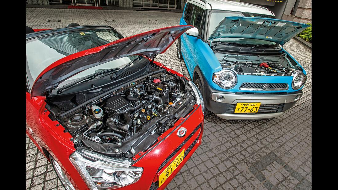 Daihatsu Copen Robe, Suzuki Hustler X Turbo 4WD, Motor