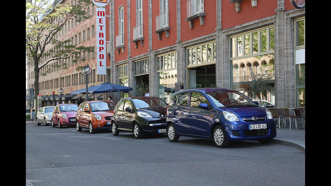 Daihatsu, Kia, Peugeot, Suzuki